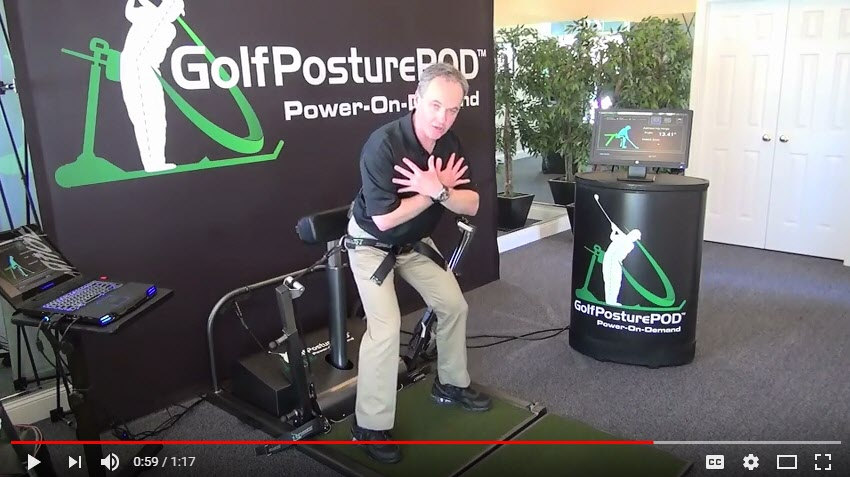 GolfPosturePOD Lower Body Acceleration